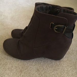 Women's BareTrap Wedge Booties.